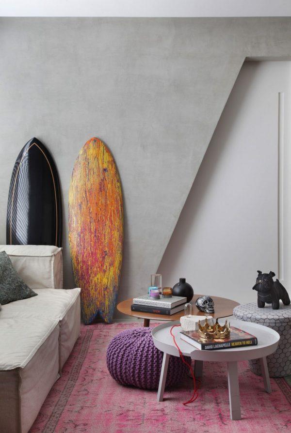 Leuk ontwerp van een compacte woonkamer