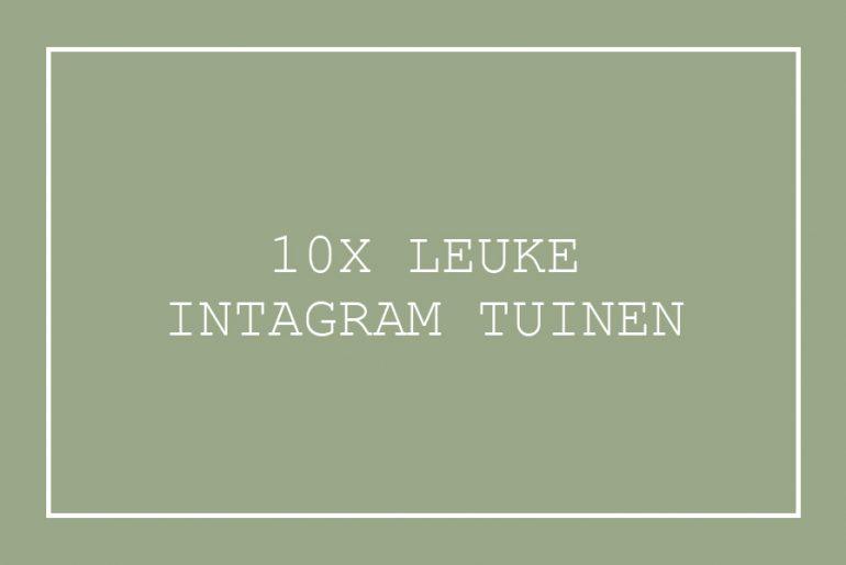 leuke tuin ideeën Instagram