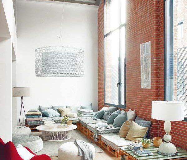Loungebank maken in woonkamer