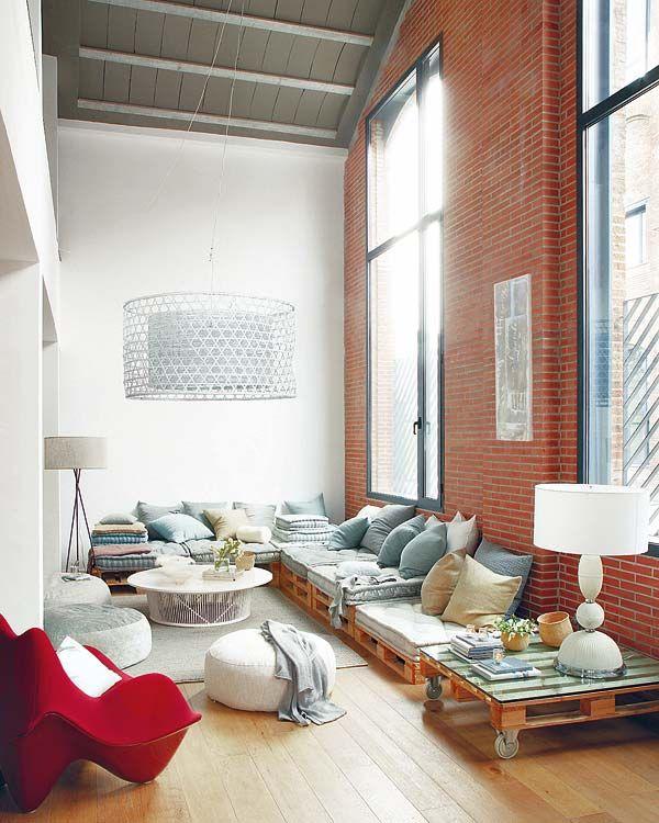 Loungebank maken in woonkamer | HOMEASE