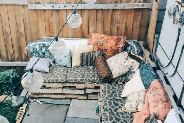 Loungen in de tuin