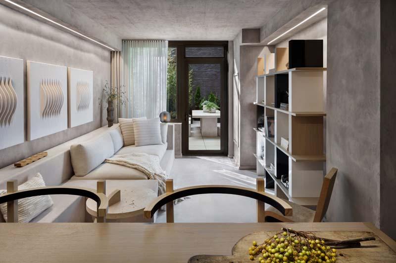 Luxe appartement uit New York met beton en hout