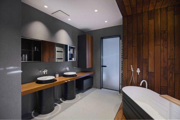 luxe badkamer dubbele wastafels agabe