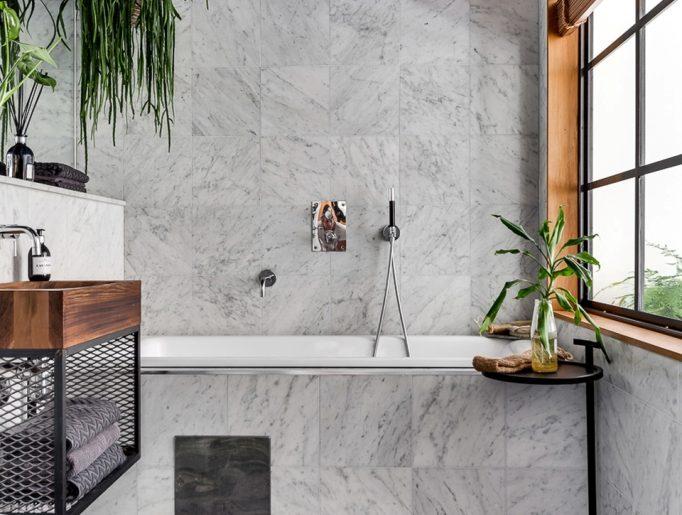 luxe badkamer marmeren tegels