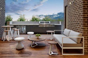 Luxe dakterras met complete buitenkeuken