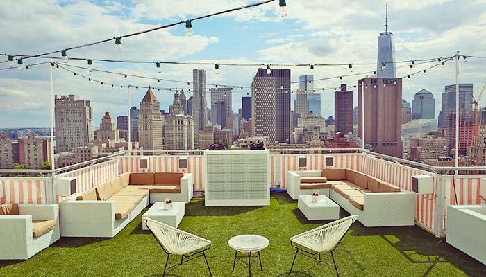 luxe dakterras kunstgras new york