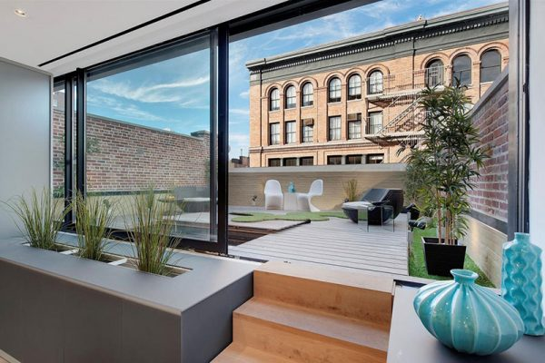 Luxe dakterras van loft uit New York