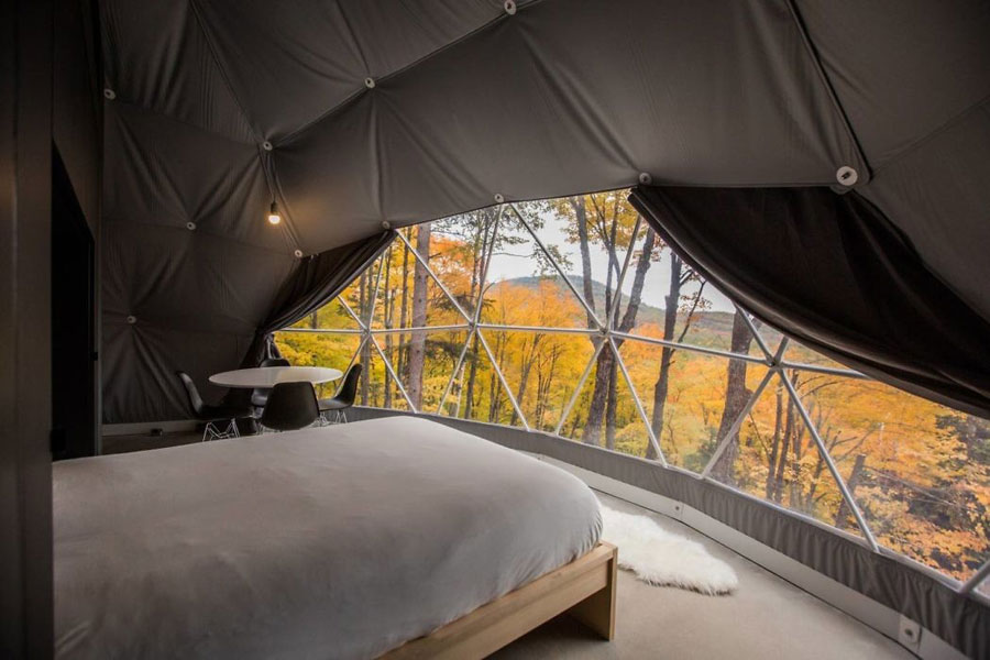 Luxe en comfortabel midden in de natuur overnachten in Dômes Charlevoix