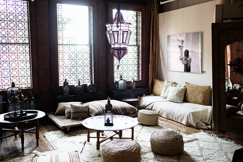 Marokkaanse woonkamer voor theeceremonie