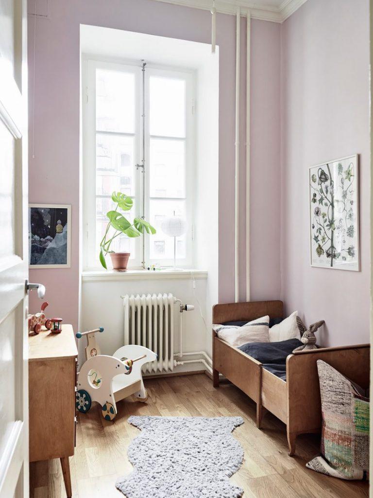 meisjeskamer roze muren