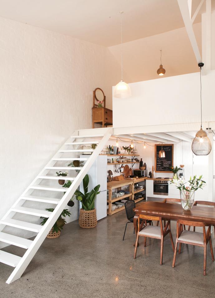 Mezzaninen boven keuken