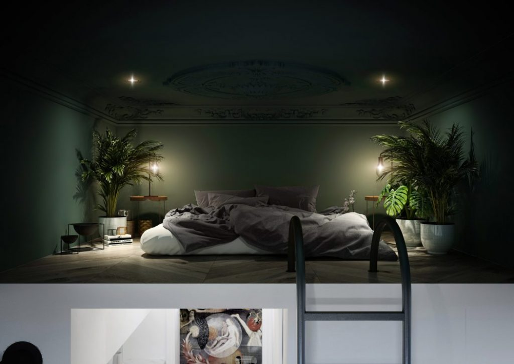 Mezzanine loft slaapkamer Polen