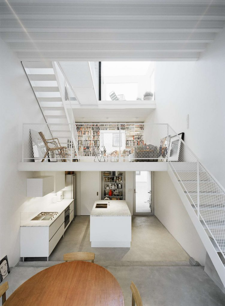mezzanine modern rijtjeshuis