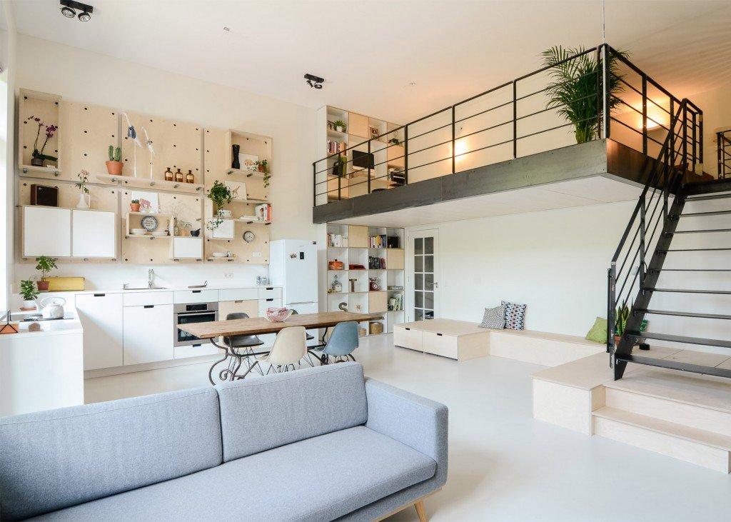 Mezzanine - Thuiskantoor in Amsterdamse loft