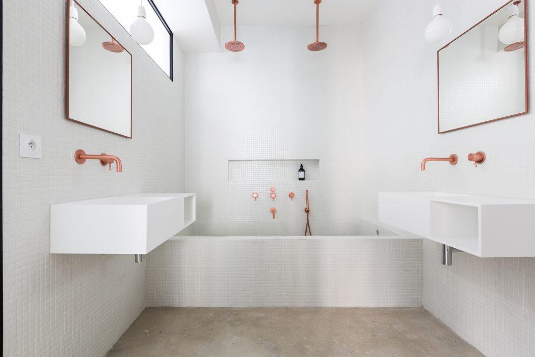 8x Minimalistische Werkplek : Minimalistisch chique badkamer homease