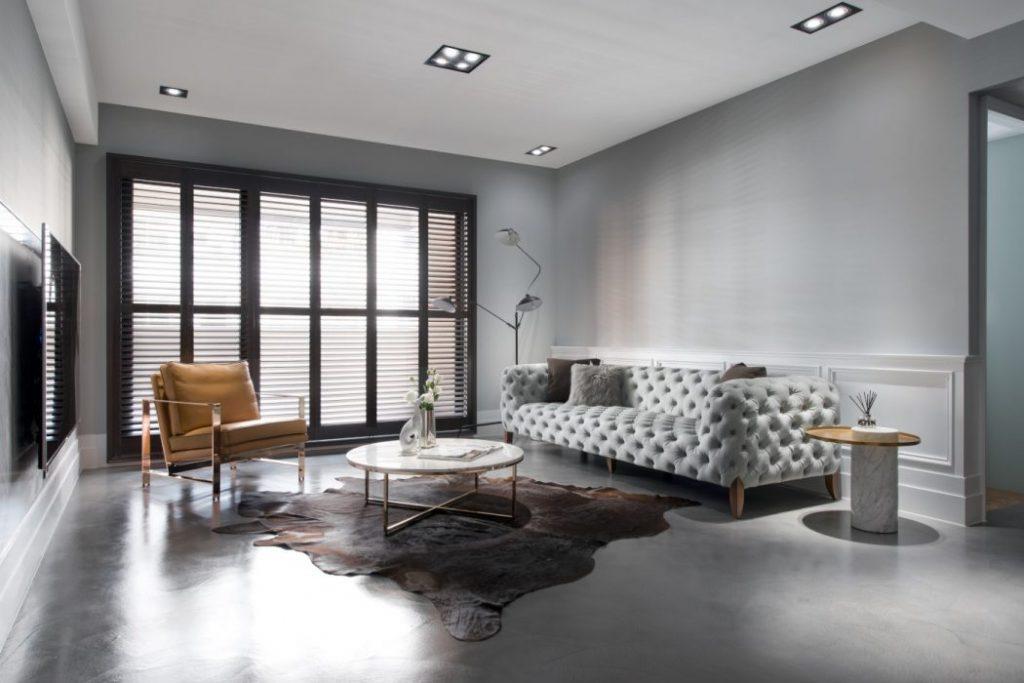 Minimalistisch, modern en klassiek chique woonkamer