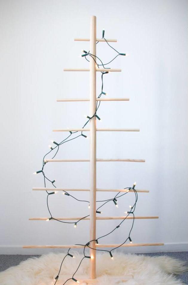 minimalistische houten kerstboom
