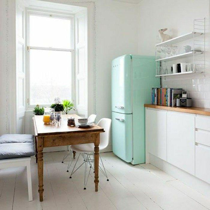 Mintgroene SMEG koelkast