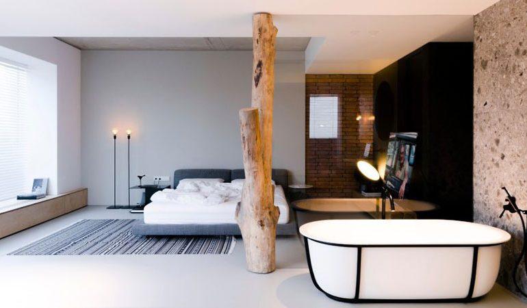 Modern loft appartement van een jong creatief stel