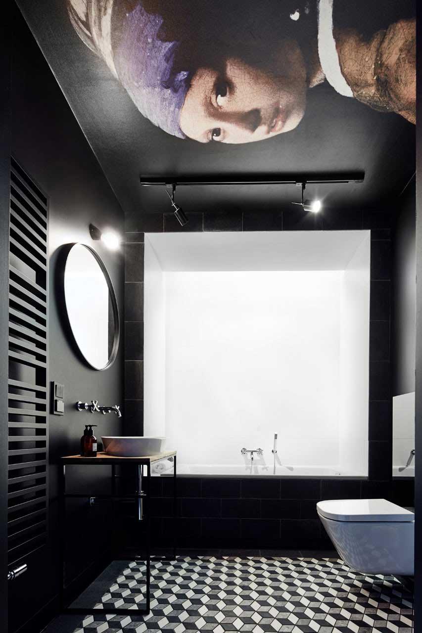 Moderne badkamer zwart