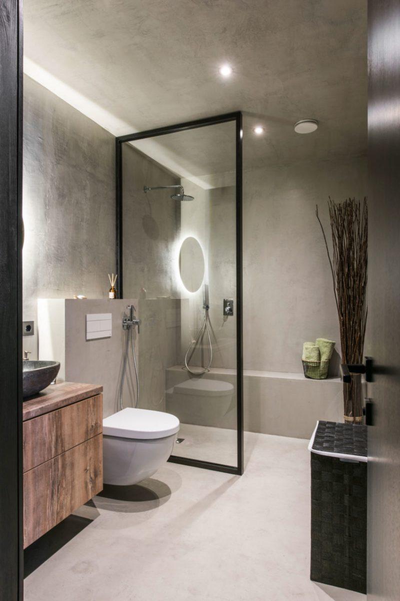 moderne badkamer betonstuc