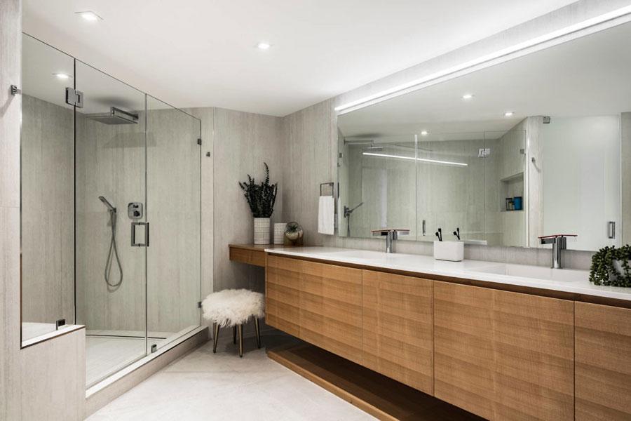 moderne badkamer creatieve indeling