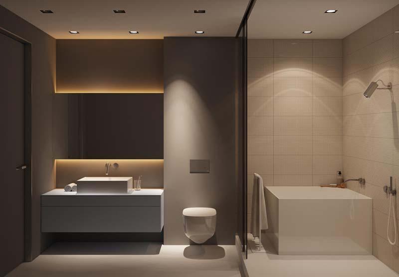 moderne badkamer luxe en warm