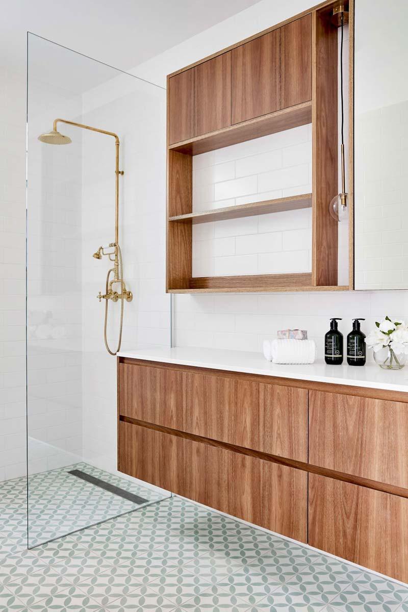 moderne badkamer patroontegels
