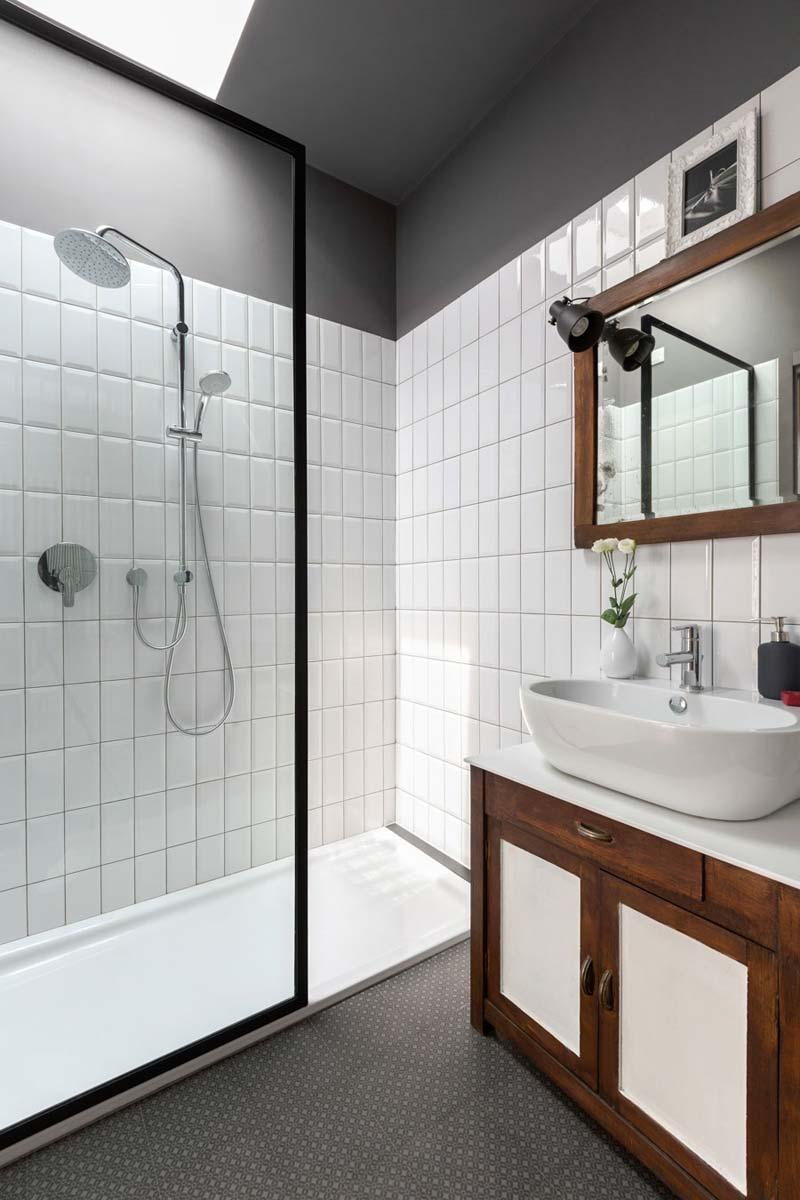 moderne badkamer vintage