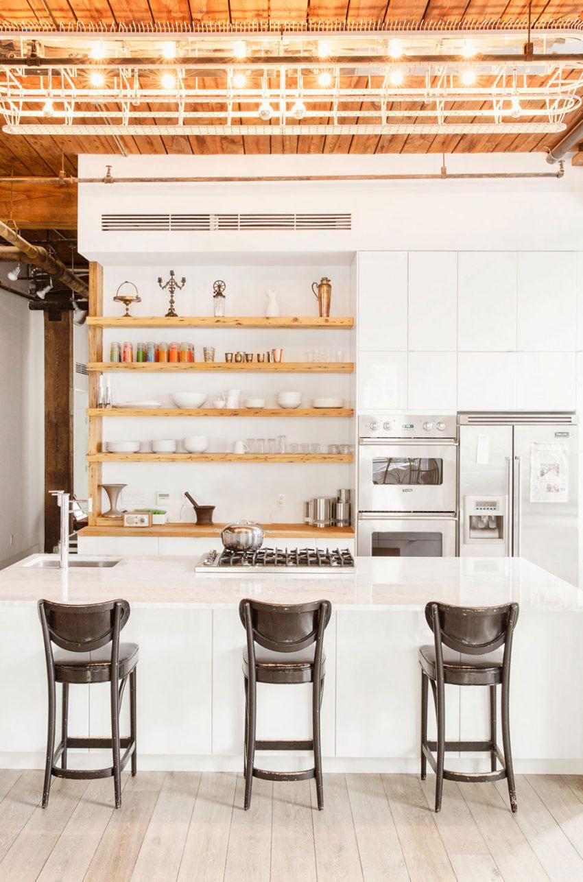 Moderne keuken in de stoere loft van Amerikaanse chefkok