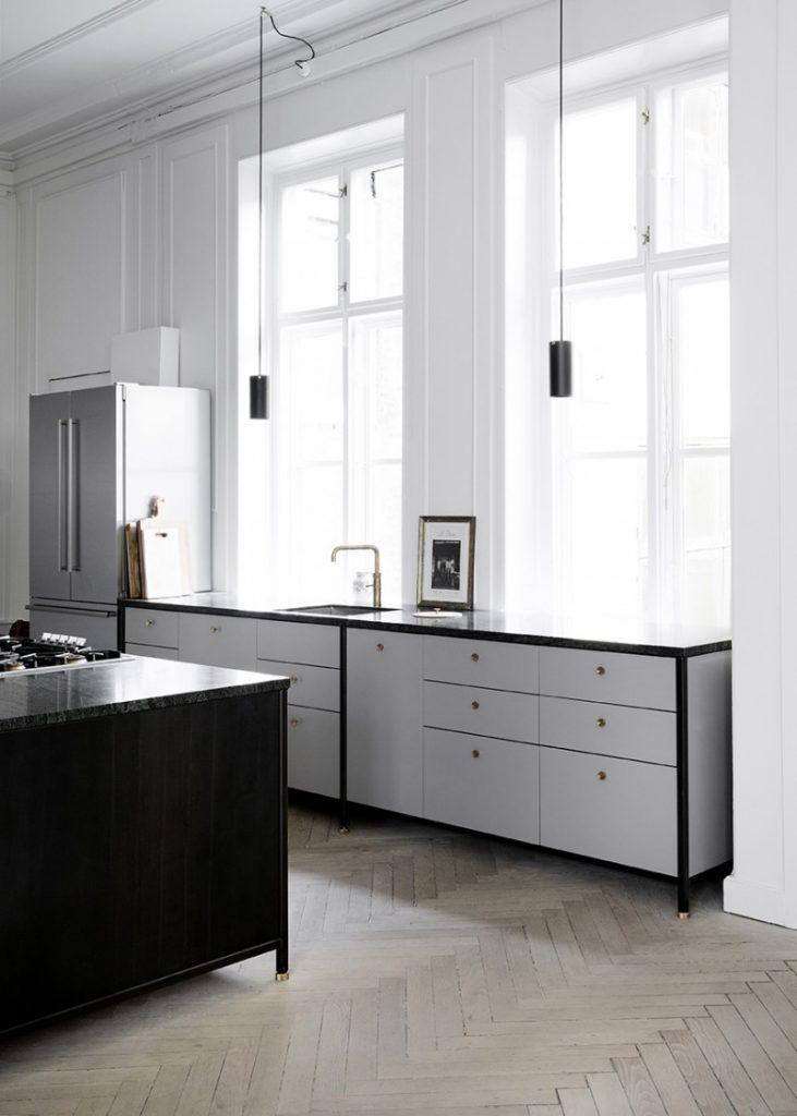 Moderne klassieke keuken van KBH Kopenhagen Møbelsnedkeri