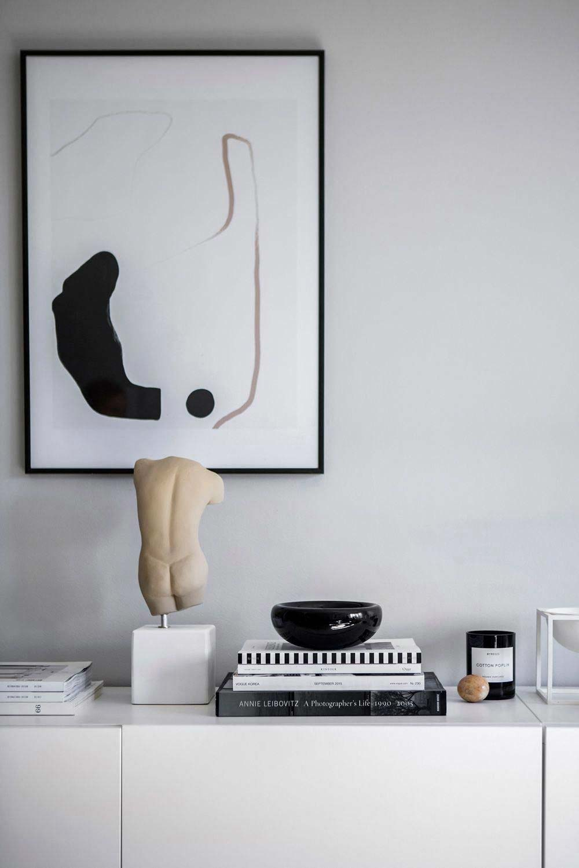 moderne kunst in huis beeld