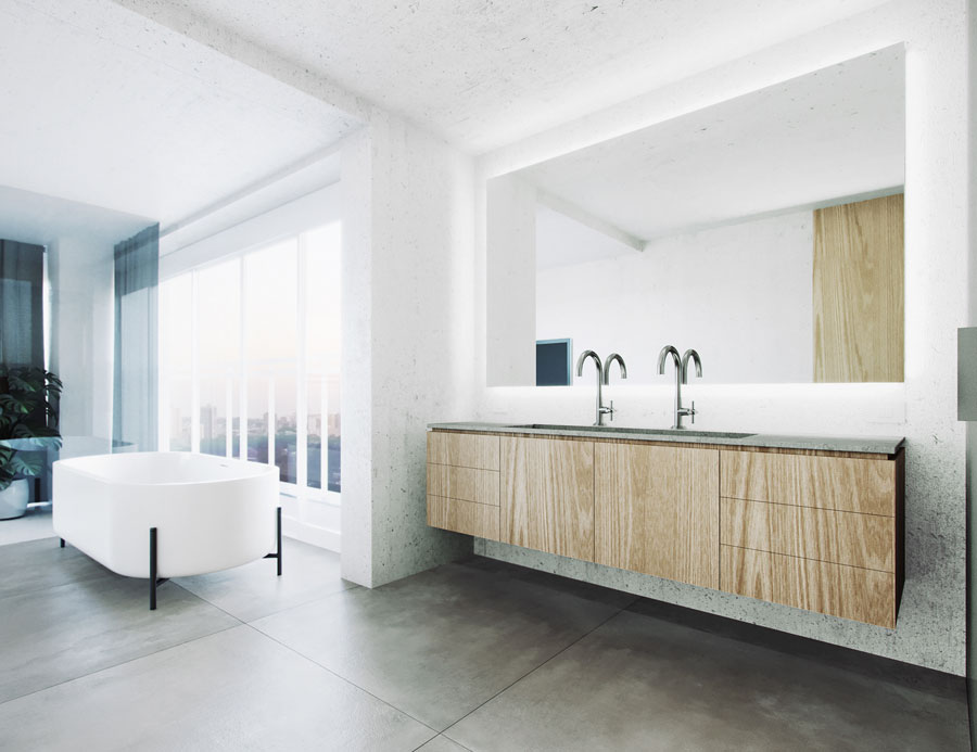 moderne luxe badkamer en suite