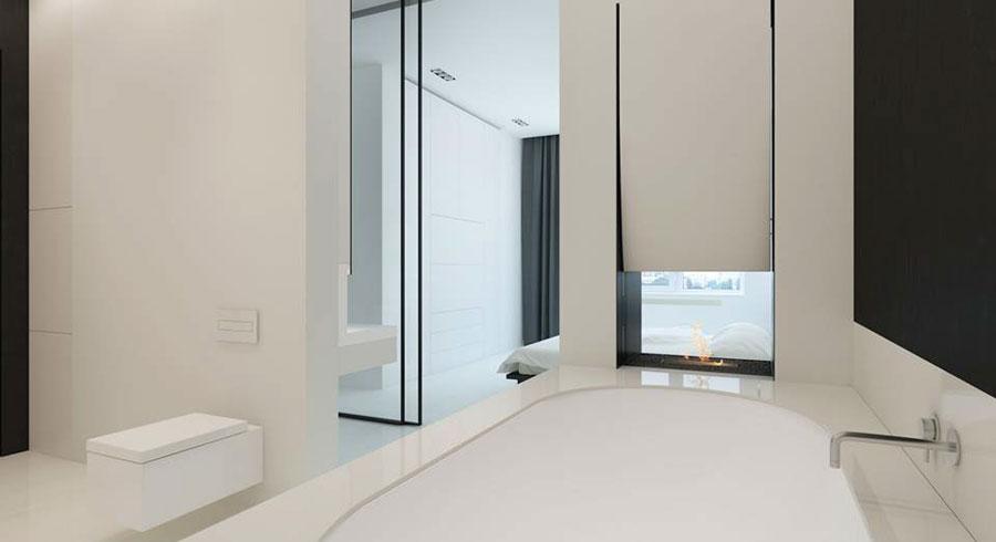 Moderne minimalistisch witte slaapkamer suite homease