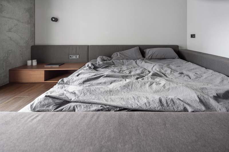 moderne slaapkamer laag bed