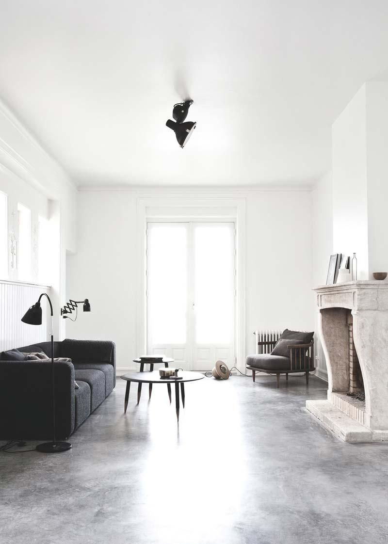 moderne woonkamer minimalistisch karakteristiek