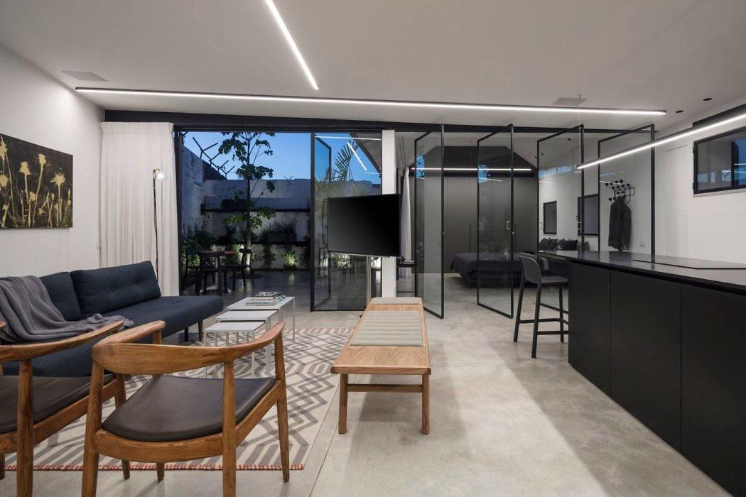 moderne woonkamer open indeling