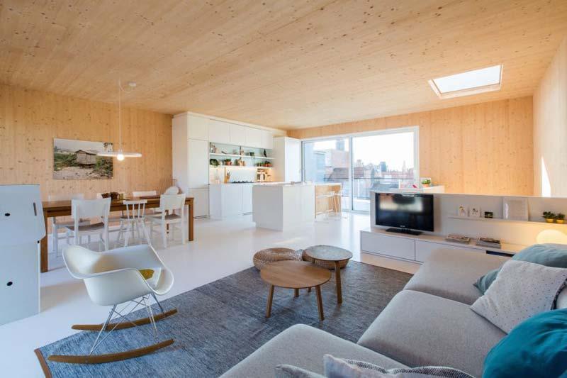 moderne woonkamer scandinavisch warm