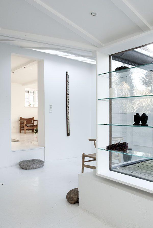 ... wit huisje wit interieur witte huis witte inrichting witte vloer