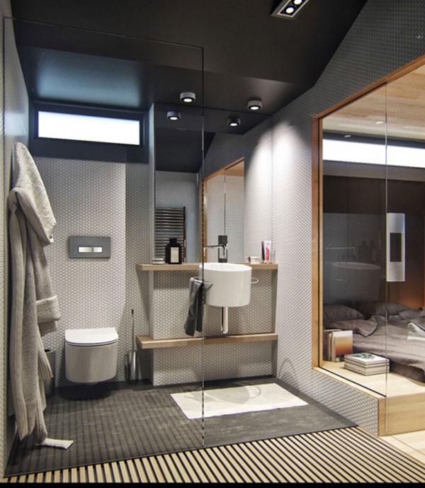 Mooie badkamer in een klein appartement