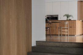 De mooie keuken van het Gjøvik House project