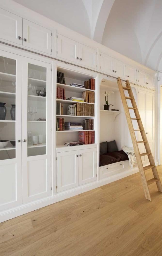 mooie ladder boekenkast