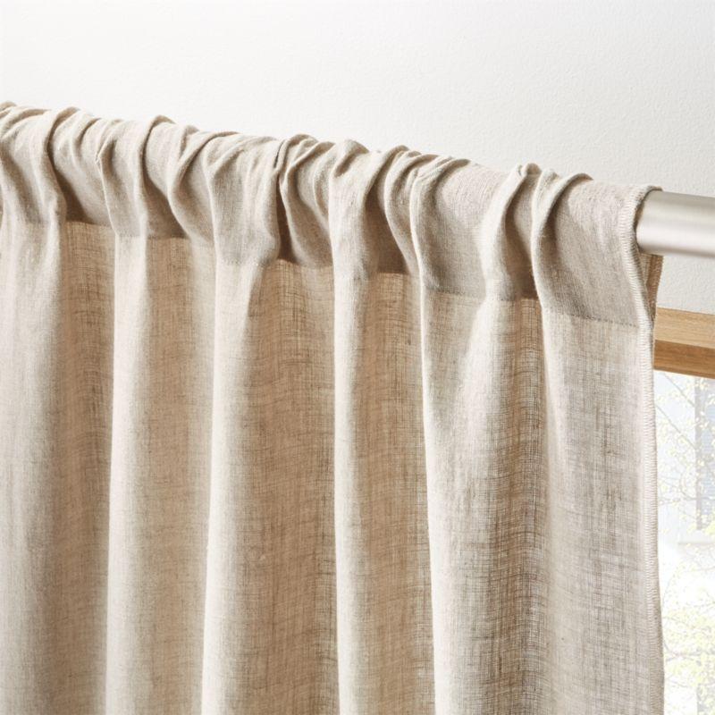 mooie natuurlijke linnen gordijnen met lussen-roede