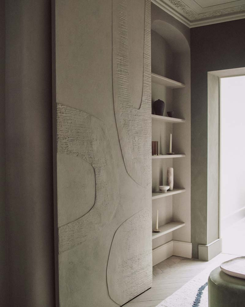 mooie op maat gemaakte schuifdeur inbouwkast