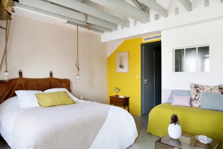 De mooiste slaapkamer van Hotel Henriette in Parijs