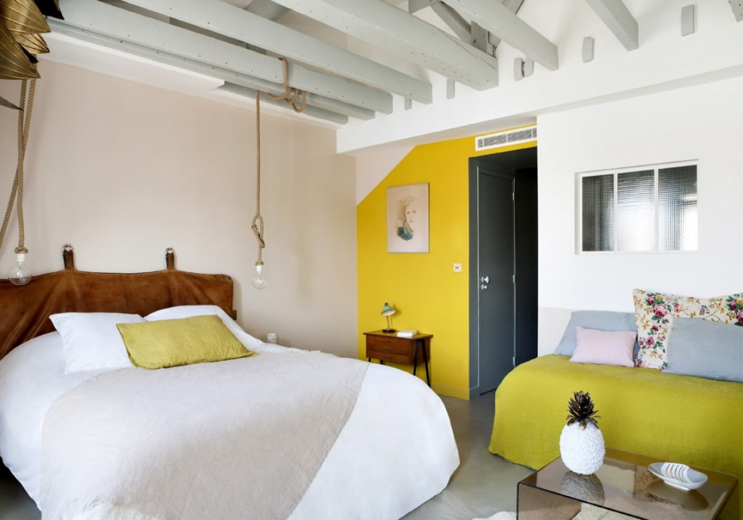 De mooiste slaapkamer van Hotel Henriette in Parijs | HOMEASE