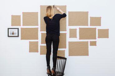 Muur collage maken van lijsten