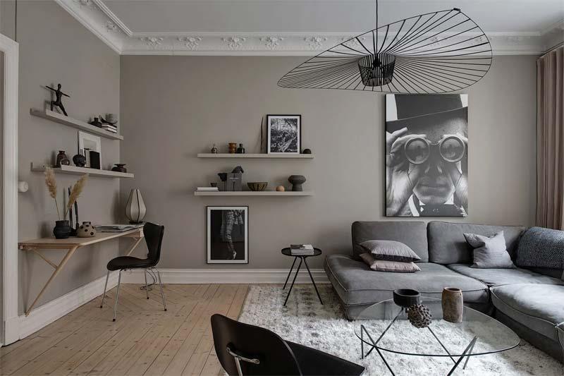 muur kleur kiezen interieur beige woonkamer