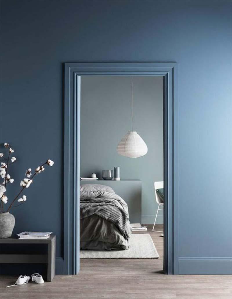 muur kleur kiezen interieur blauw
