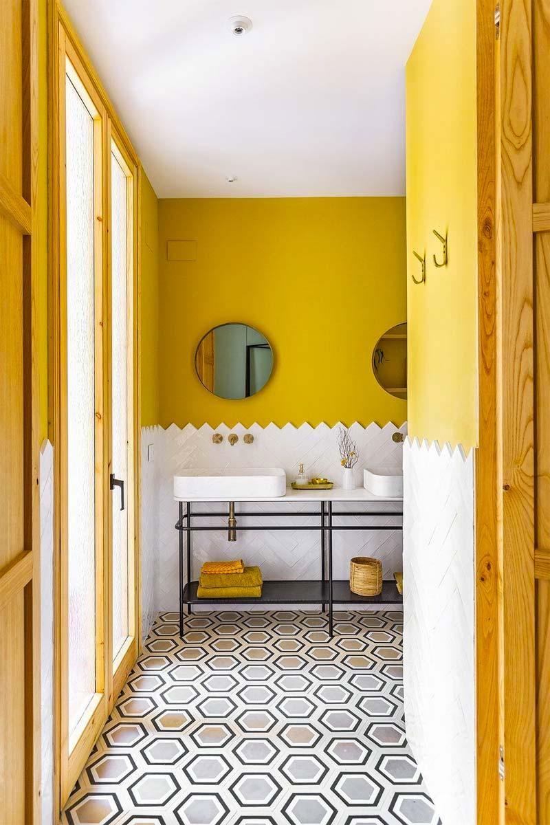 muur kleur kiezen interieur geel